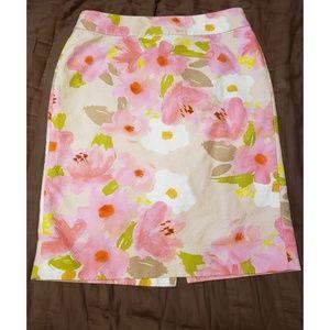 J.Crew Floral Pencil Skirt Sz. 10
